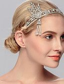 cheap Wedding Veils-Rhinestone Tiaras / Headwear with Floral 1pc Wedding / Special Occasion / Casual Headpiece