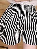 preiswerte Damen Hosen-Damen Übergrössen Hohe Hüfthöhe Breites Bein Jeans Hose Gestreift