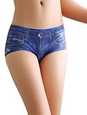 baratos Calças Femininas-Mulheres Sem Costura Sólido Cintura Média
