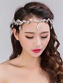 hesapli Moda Başlıklar-Kadın's Parti Düğün Kristal Yapay Elmas Gümüş Kaplama alaşım Saç Bandı Alın Sa Zinciri