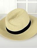hesapli Moda Başlıklar-Unisex Vintage Sevimli Parti İş Hasır Şapka Solid