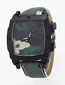 voordelige Dress horloge-Heren Kwarts Polshorloge / Hot Sale PU Band Informeel Blauw Rood Groen Kaki