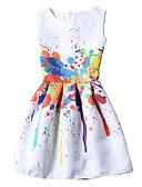 hesapli Kadın Elbiseleri-Kadın's Vintage Kayakçı Elbise Desen Diz üstü