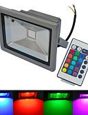 halpa Huivit-6000-6500/3000-3200 lm LED-valonheittimet 1 ledit COB Vedenkestävä Kauko-ohjattava Lämmin valkoinen Kylmä valkoinen RGB AC 85-265V