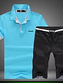 billige Poloskjorter til herrer-Herre Chic & Moderne Sett Ensfarget Trykt mønster