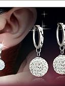 cheap Women's Sweaters-Women's Disco Ball Drop Earrings - Rhinestone Ball Elegant, Bridal Silver For Daily Casual