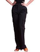 hesapli Göbek Dansı Giysileri-Latin Dansı Alt Giyimler Kadın's Eğitim Merserize Pamuk Cep Doğal Pantalonlar