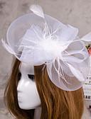 hesapli Parti Başlıkları-Saten  -  Fascinators / Kuş kafesi örtüleri 1 Düğün / Özel Anlar Başlık