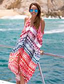 tanie Bikini i odzież kąpielowa-Damskie Boho Kolorowy blok Halter Czerwony Cover Up Stroje kąpielowe Jeden rozmiar / Jednoczęściowe