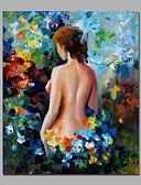 halpa Naisten yöasut-Hang-Painted öljymaalaus Maalattu - Nude Moderni Kangas