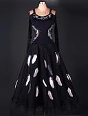 preiswerte Bauchtanzkleidung-Für den Ballsaal Kleider Damen Leistung Chinlon / Organza Drapiert Kleid / Moderner Tanz