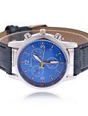 baratos Relógio Elegante-Homens Relógio de Pulso Relógio Casual PU Banda Amuleto Preta / Azul / Marrom / Tianqiu 377