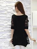 preiswerte Damen Kleider-Damen Solide Übergrössen Bluse Spitze Nylon