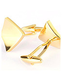 cheap Men's Ties & Bow Ties-Men's Fashion Gold Alloy French Shirt Cufflinks (1-Pair)