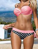 abordables Biquinis y Bañadores para Mujer-Mujer Bandeau Bikini - Estampado, A Lunares Pícaro Con Tirantes