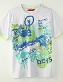 baratos Roupas de Meninos-Para Meninos Camiseta Para Noite Verão Poliéster Manga Curta Branco