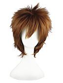 halpa Luistelumekot-Synteettiset peruukit Suora Synteettiset hiukset Ruskea Peruukki 13 cm Suojuksettomat
