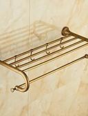 baratos Corpetes-Prateleira de Banheiro Clássica Latão 1 Pça. - Banho do hotel Casal (L200 cm x C200 cm)