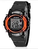 preiswerte Sportuhr-SYNOKE Sportuhr / Armbanduhr Alarm / Kalender / Chronograph Caucho Band Schwarz / Wasserdicht / leuchtend / LCD