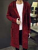 cheap Men's Sweaters & Cardigans-Men's Weekend Long Sleeve Long Cardigan - Solid Colored