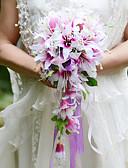 Χαμηλού Κόστους Φορέματα για τη Μητέρα της Νύφης-Λουλούδια Γάμου Ελεύθερης Μορφής Καταρράκτης Κρίνοι Μπουκέτα Γάμος Πάρτι/ Βράδυ Σατέν Μετάξι