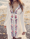 cheap Women's Swimwear & Bikinis-Women's Boho Plunging Neck Cover-Up - Floral Print