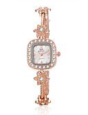 ieftine Ceasuri La Modă-Pentru femei Quartz Ceas Brățară Ceas Casual Aliaj Bandă Floare / Elegant / Modă Auriu