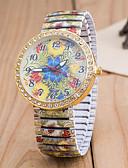 preiswerte Modische Uhren-Damen Armbanduhr Quartz Mehrfarbig Imitation Diamant Analog damas Blume Modisch - Grün Blau Regenbogen Ein Jahr Batterielebensdauer / Tianqiu 377