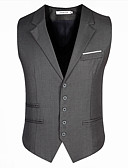 cheap Men's Blazers & Suits-Men's Slim Vest-Solid Colored,Modern Style / Sleeveless / Work