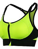 preiswerte Visors Kleidung-Patchwork Reißverschluß vorne Sport-BHs Gefüttert Leichte Unterstützung Für Yoga / Laufen / Fitness - Rot / Grün / Blau Rasche Trocknung, Reißverschluß vorne, Schweißableitend Damen