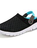 זול חלקים עליונים לגברים-בגדי ריקוד נשים נעליים סינטתי / טול נוחות הליכה שטוח בוהן עגולה ירוק / כחול / ורוד