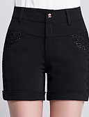 baratos Calças Femininas-Mulheres Tamanhos Grandes Cintura Alta Delgado Jeans Calças - Sólido
