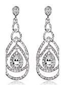 preiswerte Hochzeitskleider-Damen Kristall Tropfen-Ohrringe - Kubikzirkonia Königsblau / Burgund / Champagner Für