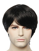 cheap Men's Jackets & Coats-Human Hair Capless Wigs Human Hair Straight / kinky Straight Capless Wig