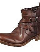 رخيصةأون ربطات العنق للرجال-للرجال Fashion Boots Leather نابا خريف / شتاء مريح / جزم للدراجات النارية كتب بني فاتح / الحفلات و المساء