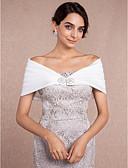 abordables Vestidos de Novia-Sin Mangas Satén Boda Envolturas de boda Con Pedrería Boleros