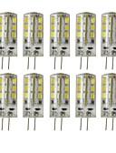 זול כבל & מטענים iPhone-10 יח 'g4 24led smd2835 dimmable דקורטיבי תירס אור dc12v לבן / חם לבן