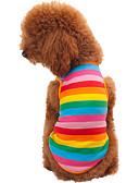 baratos Relógios de Quartzo-Gato Cachorro Camiseta Roupas para Cães Riscas Arco-Íris Algodão Ocasiões Especiais Para Primavera & Outono Verão Homens Mulheres Fashion