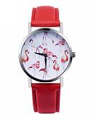 baratos Relógios da Moda-Mulheres Relógio de Pulso Relógio Casual Couro Banda Fashion / Elegante Branco / Vermelho / Aço Inoxidável / Um ano / SSUO 377