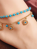 cheap Fashion Belts-Beaded / Tassel Anklet - Flower Bohemian, Fashion, Boho Gold For Daily / Casual / Women's