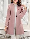 preiswerte Damenmäntel und Trenchcoats-Damen-Solide Grundlegend Mantel