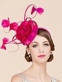 cheap Women's Hats-Flax / Feather Fascinators / Hats with 1 Wedding / Special Occasion / Casual Headpiece