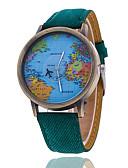 baratos Relógio Elegante-Homens Relógio de Pulso Quartzo Relógio Casual Tecido Banda Analógico Padrão Mapa do Mundo Preta / Branco - Vermelho Verde Azul Um ano Ciclo de Vida da Bateria / Tianqiu 377