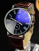 abordables Relojes de Vestir-YAZOLE Hombre Reloj de Pulsera Gran venta / / Piel Banda Casual / Reloj de Vestir Negro / Blanco / Rojo
