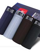 voordelige Herenondergoed-Effen Boxer shorts Heren Medium Taille