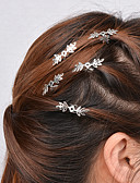 preiswerte Kopfbedeckungen für Damen-Damen Party, Aleación Haar Clip Solide / Goldfarben