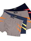 billige Undertøy og sokker til herrer-Herre Super Sexy Boksere - Trykt mønster, Fargeblokk 1 Deler Mellomhøyt liv