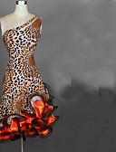 olcso Női kalapok-Latin tánc Ruhák Női Teljesítmény Spandex / Sifon szatén Fodrozott Ujjatlan Magas Ruha
