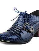 ieftine Curele Bărbați-Bărbați Pantofi de confort Piele Originală Primăvară / Toamnă Oxfords Golf Shoes Negru / Albastru / Party & Seară