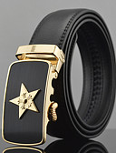 cheap Fashion Belts-Men's Work Leather Wide Belt - Solid Colored